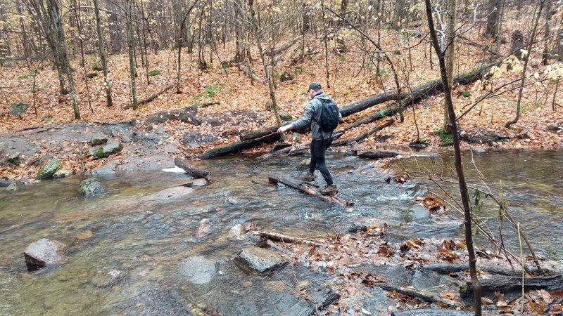 Fall conditions may mean a river crossing using logs or rocks.
