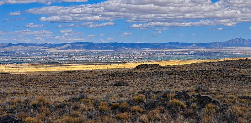 Looking east toward Albuquerque.