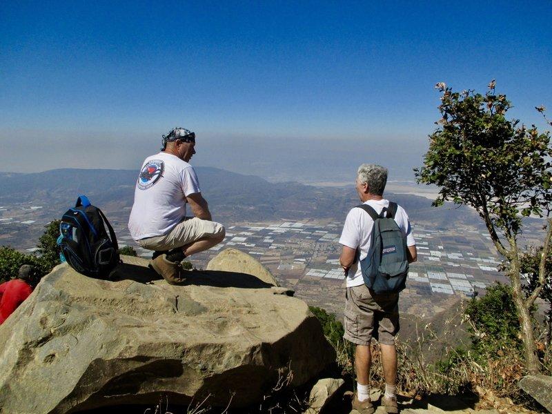 View from the peak of Cerro Viejo