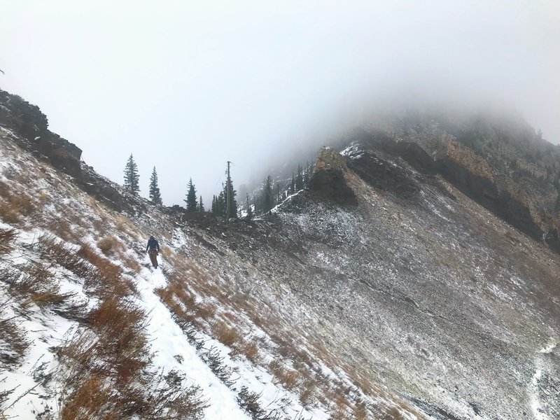 Cutting along the ridge to Superior.