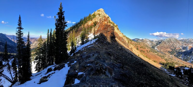 Snowy and dry sides of the pass.