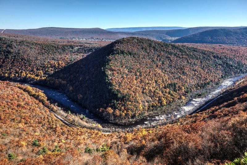 Fall in Lehigh Gorge near Jim Thorpe, PA
