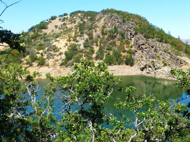 Rock climbers practice area.