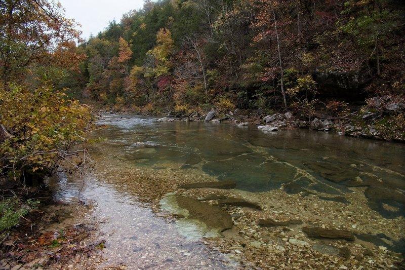North Sylamore Creek, view upstream