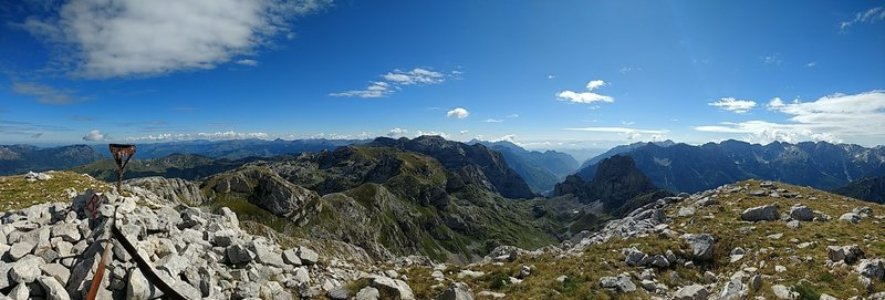 View from the summit of Maja e Rosit