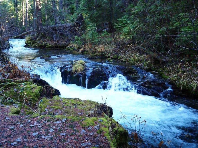 Farther upstream at Union Creek Falls