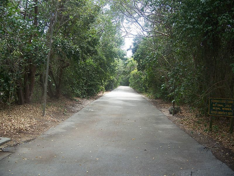 Paved beginning of trail