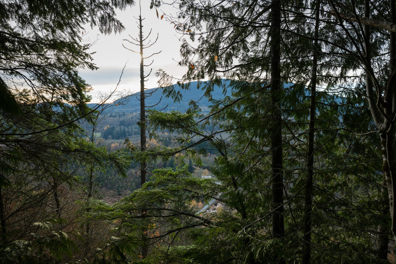 View across the valley from the South Ridge Trail.