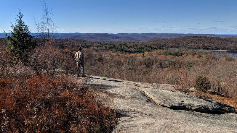Arguably the best view in Harriman State Park NY, just off Lichen Trail looking west