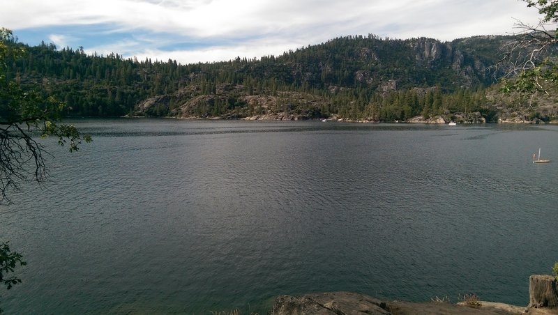 Looking out at Pinecrest lake from the Pinecrest National Recreation Trail