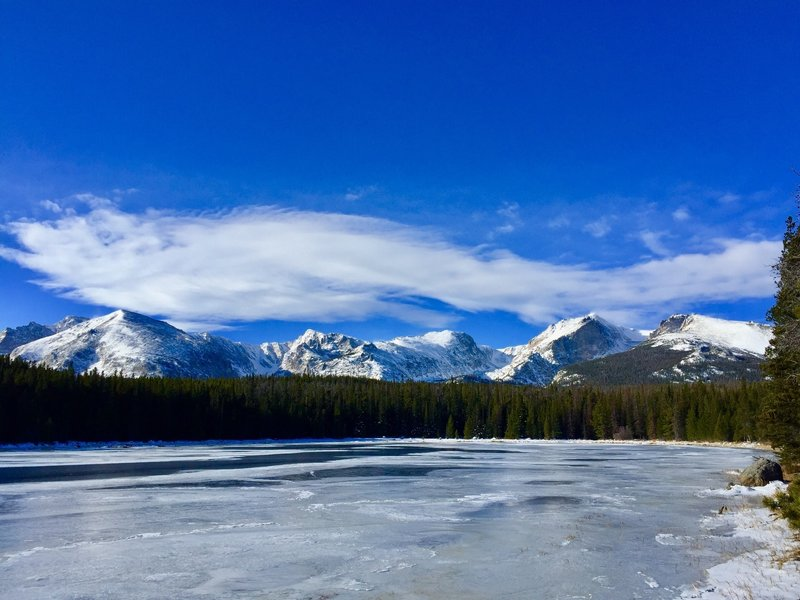 Icy Bierstadt Lake on a windy, yet peaceful, morning! 11/10/18