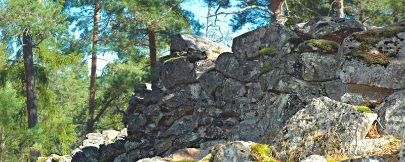The ring wall around the ancient Castle of Stensjöborg.