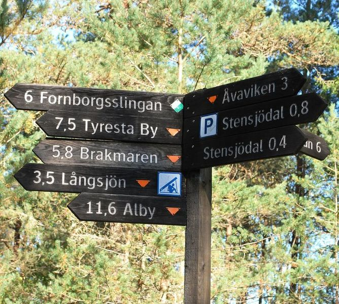 A lot of trails to follow in Tyresta National Park.