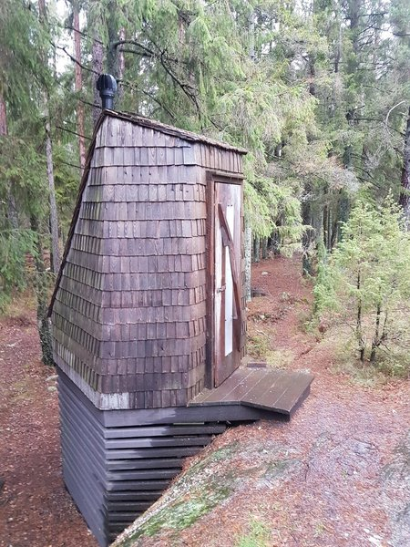 If you have to go, you have to go. Coolest outhouse in town.