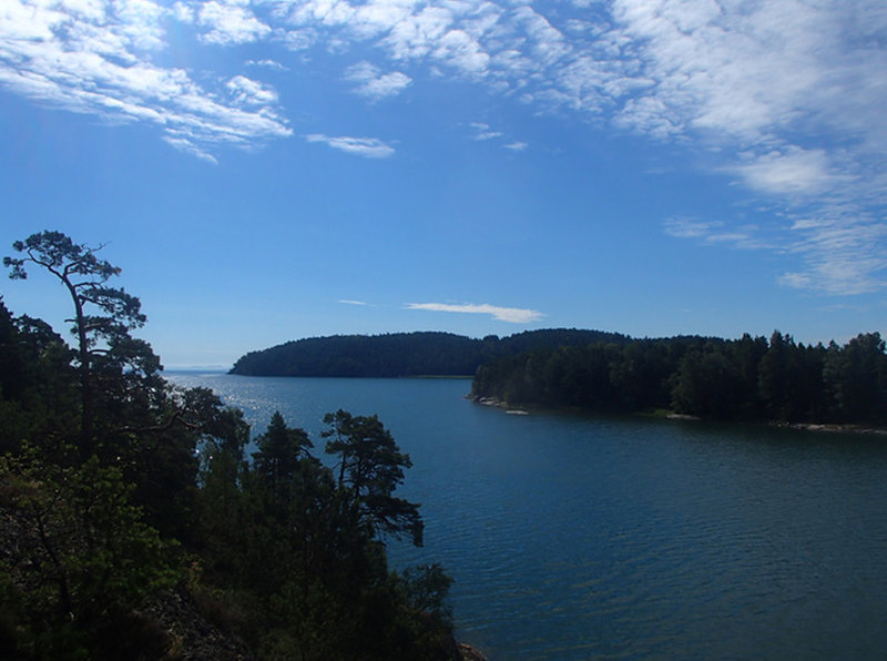 View of the islands of Hargsö and Trullsviken in Bråviken (Bråviken is a bay of the Baltic Sea and stretches over 50 kilometers from Arkösund on the coast into Pampusfjärden and Lindö outside Norrköping)
