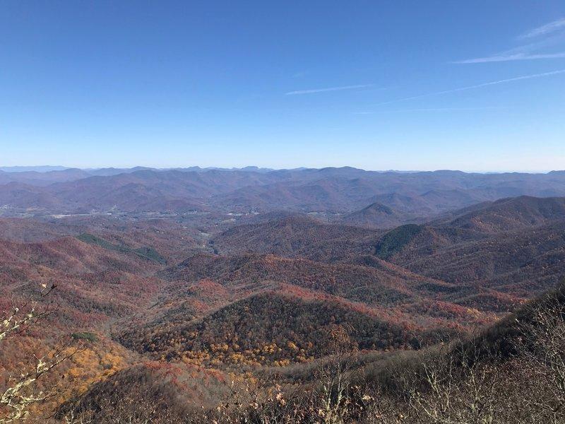 Albert Mountain viewpoint.
