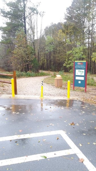 Entrance to gravel multi-use trail