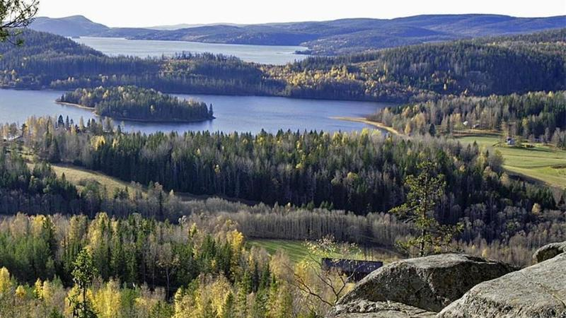 High Coast of Sweden, picture taken from Rödklitten, a Place of Geological Interest, with hillfort, cave and spectacular view.