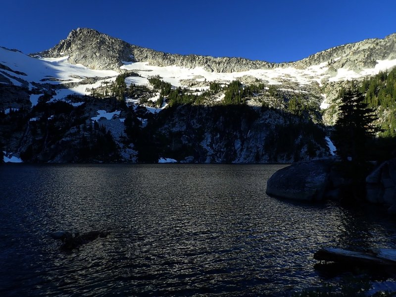 Grizzly Lake with Thompson Peak on the horizon.