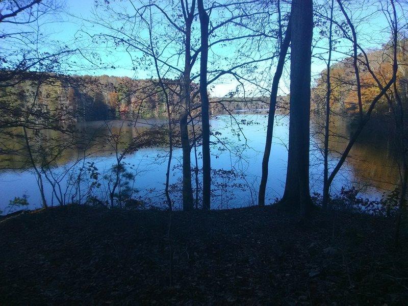 View of Falls Lake, along Rock Point Loop
