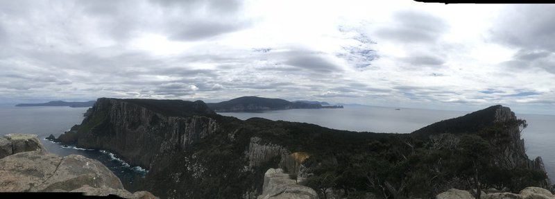 View back over Cape Pillar & Cape Huay from the blade
