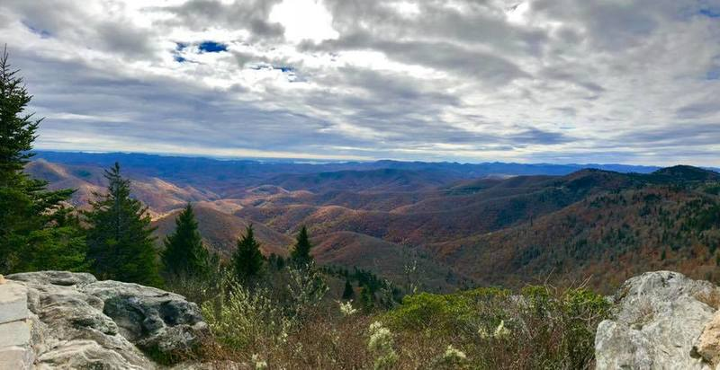 View from the summit of Devil's Courthouse