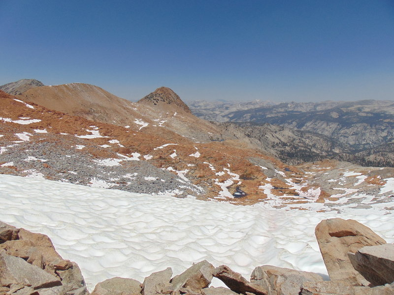 View from Red Peak Pass in late June.