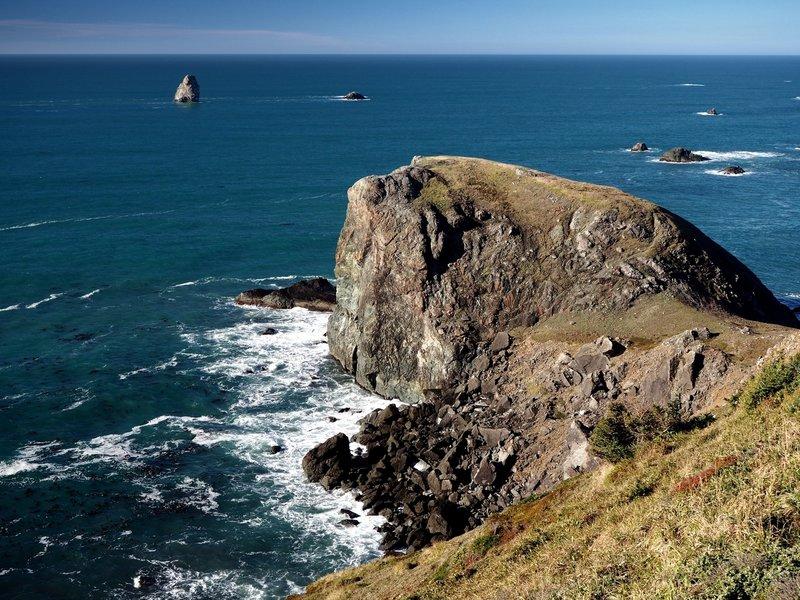 The rocky headland at Cape Ferrelo
