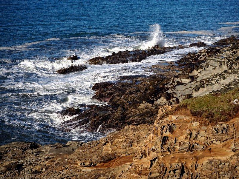 Wave action at Cape Sebastian