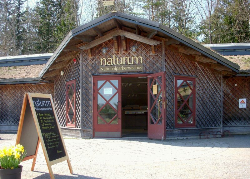 """Tyresta National Park's information center """"naturum"""" is situated in Tyresta village. Here you can learn most of what there is to know about Tyresta National Park, like the cultural heritage of Tyresta, geology, birds, insects and other animals."""