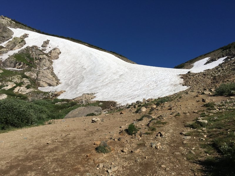 Saint Mary's glacier approach in July 2017