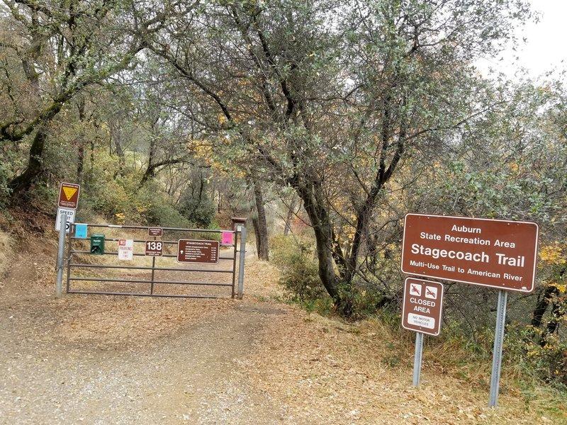 Stagecoach Trail, upper gate.