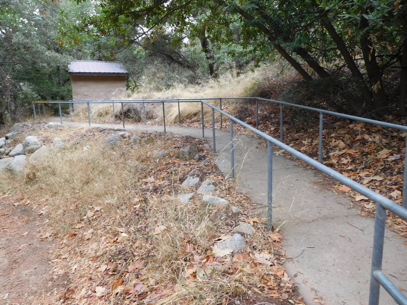 Restroom facility at end of Ben Overturff Trail.
