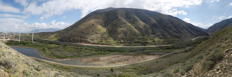 Panorama of Spanish Fork Canyon from the end of the Bonneville Shoreline