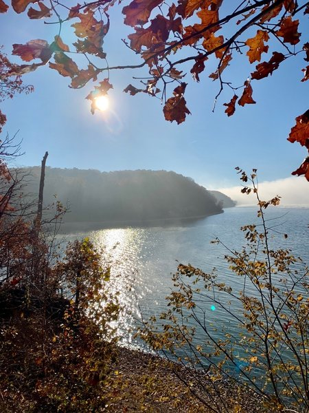 An awesome view of Kentucky Lake from the trail.