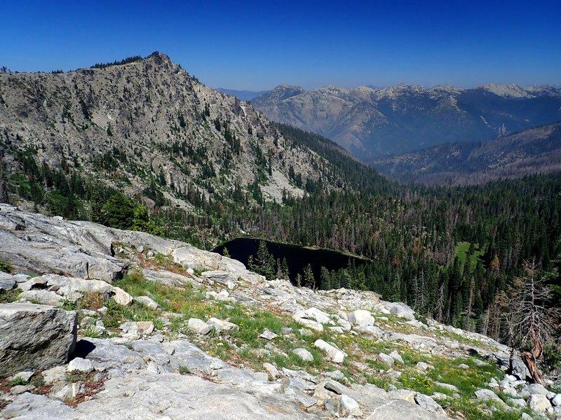 Hogan Lake from the slope below Neil Lake