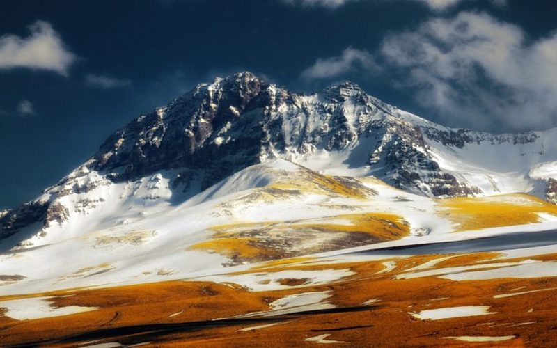 The slopes of Aragats