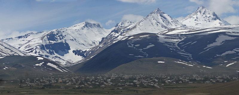 Mount Aragats from Aragats village