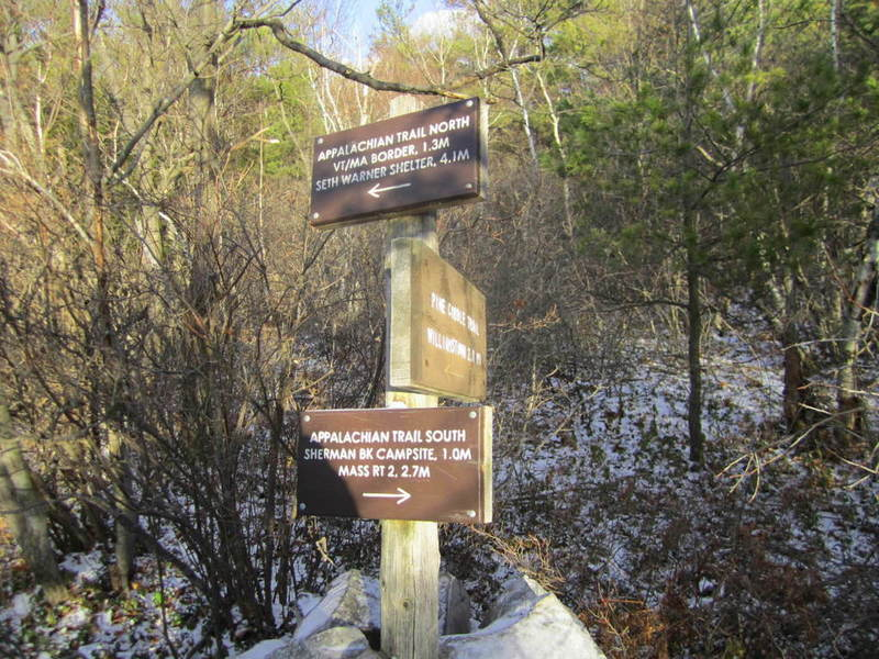 Intersection of the Applachian Trail