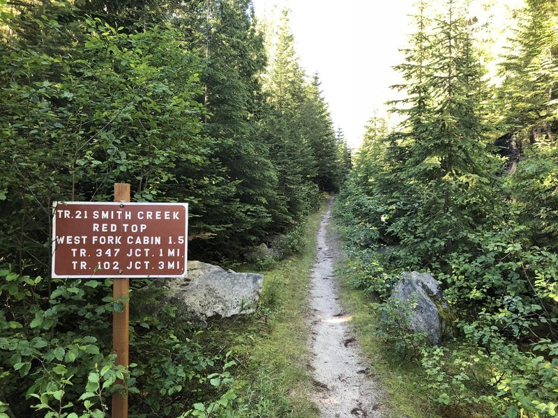 Trail #21 trailhead, Smith Creek, Idaho