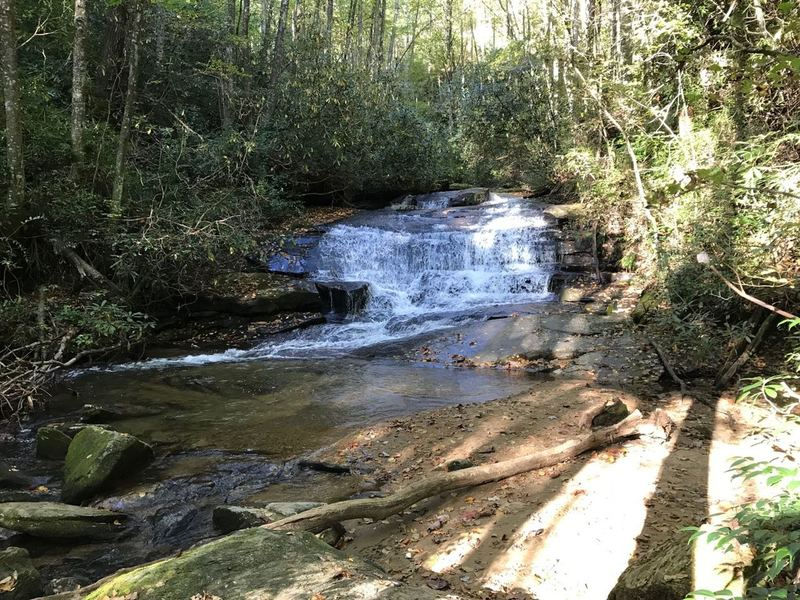 Pass many more small waterfalls along Jones Gap Trail to admire than just named ones.