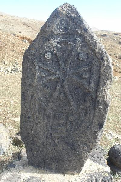 Armenian ancient khachkar (cross stone)