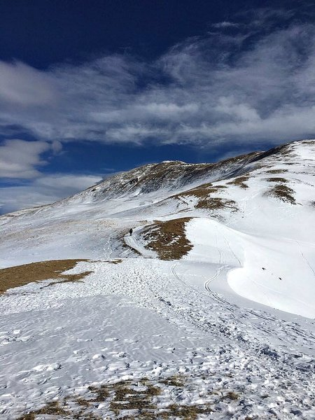 Hiking up Loveland Pass - Mt. Sniktau