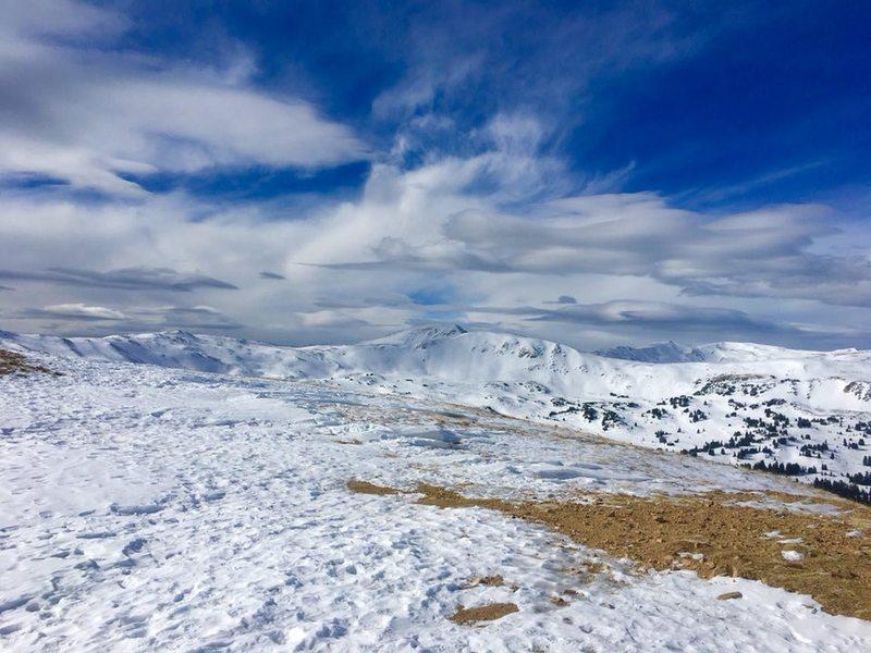 snow and ice on trail - Mt. Sniktau