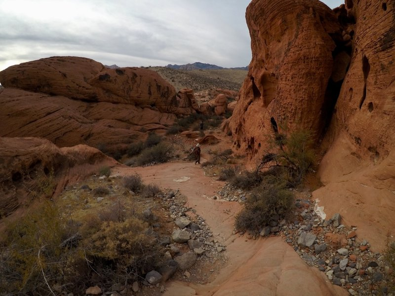The rock formations along the trail are stunning.