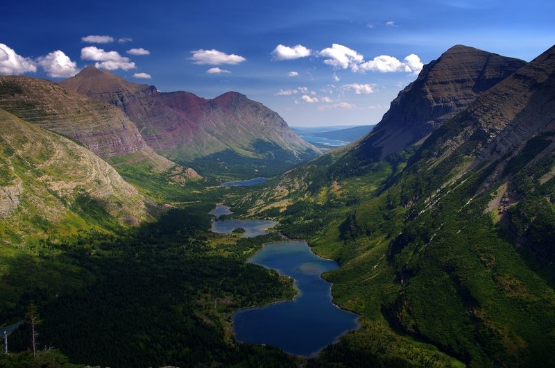 The Swiftcurrent Valley from the trail
