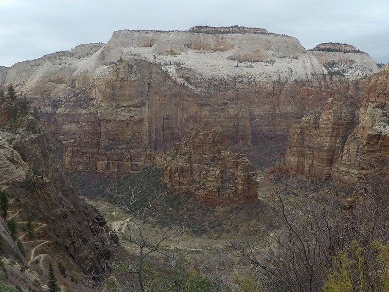 Angel's landing from a distance.