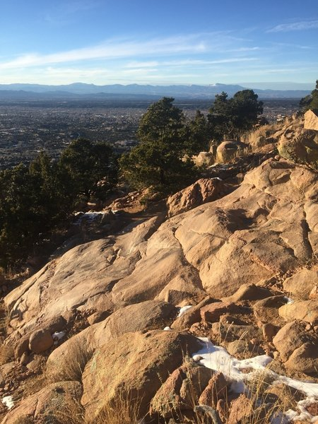 """Granite Waterfall"" rock crop formation on Sun Mountain Trail"
