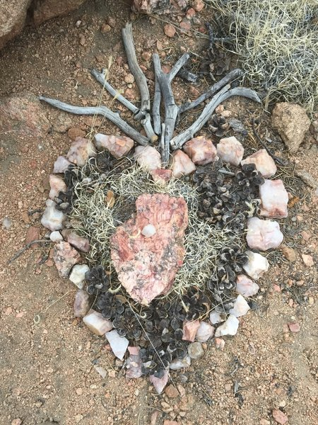 Nature artwork in secret location on summit of Sun Mountain...can you find it?