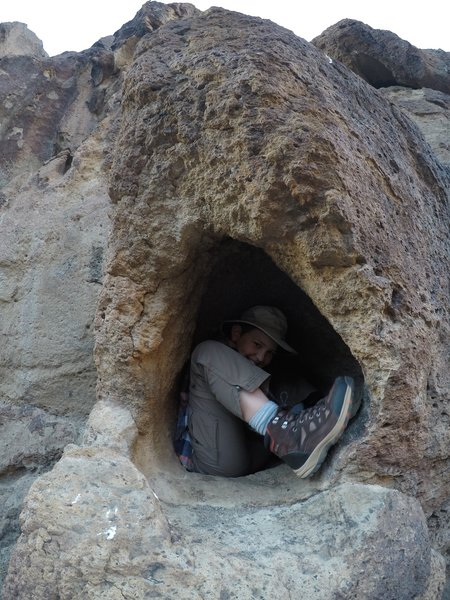 My brother in a hole.